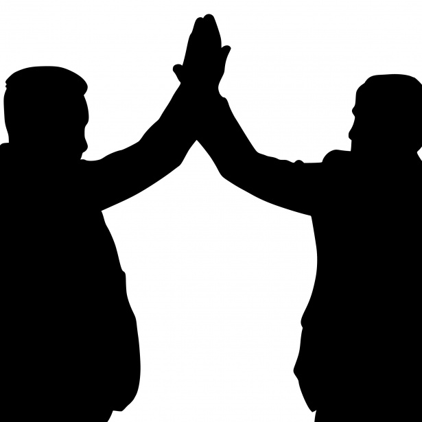 high-five-silhouette